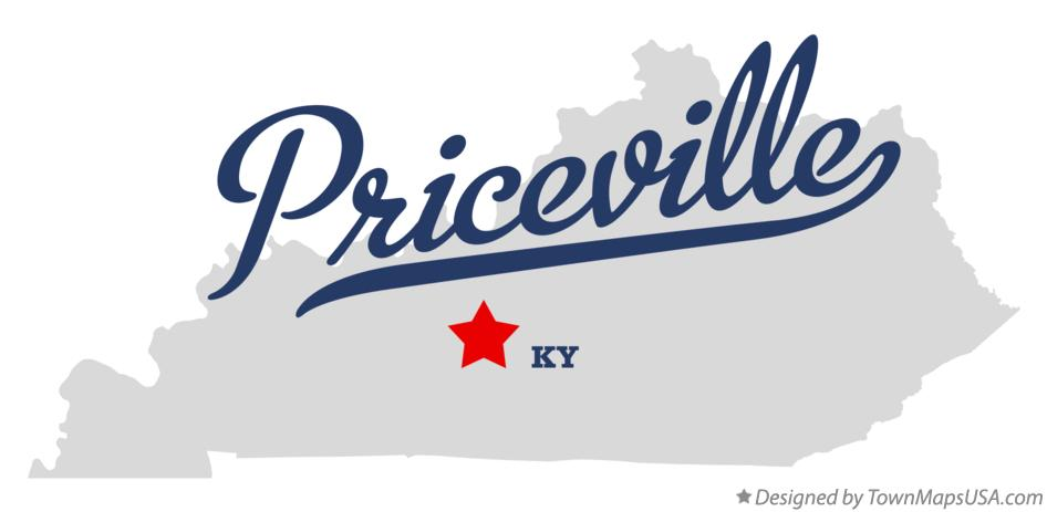 Map of Priceville Kentucky KY