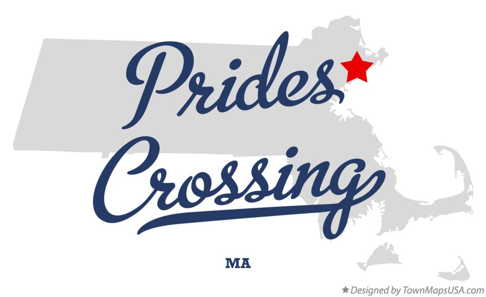 Map of Prides Crossing Massachusetts MA