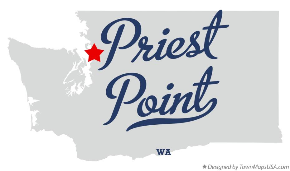 Map of Priest Point Washington WA