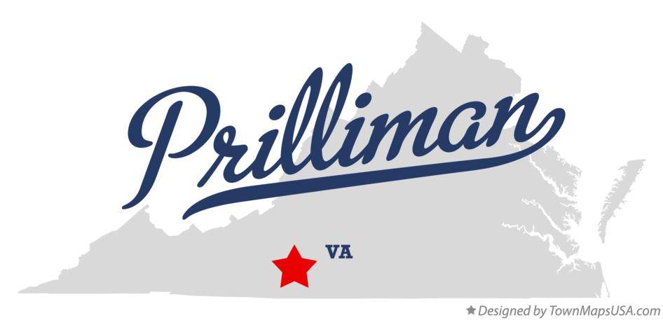 Map of Prilliman Virginia VA