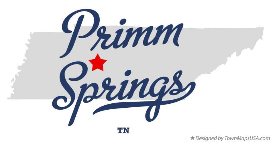 Map of Primm Springs Tennessee TN