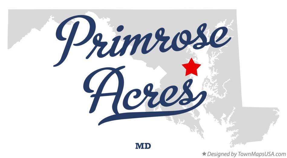 Map of Primrose Acres Maryland MD