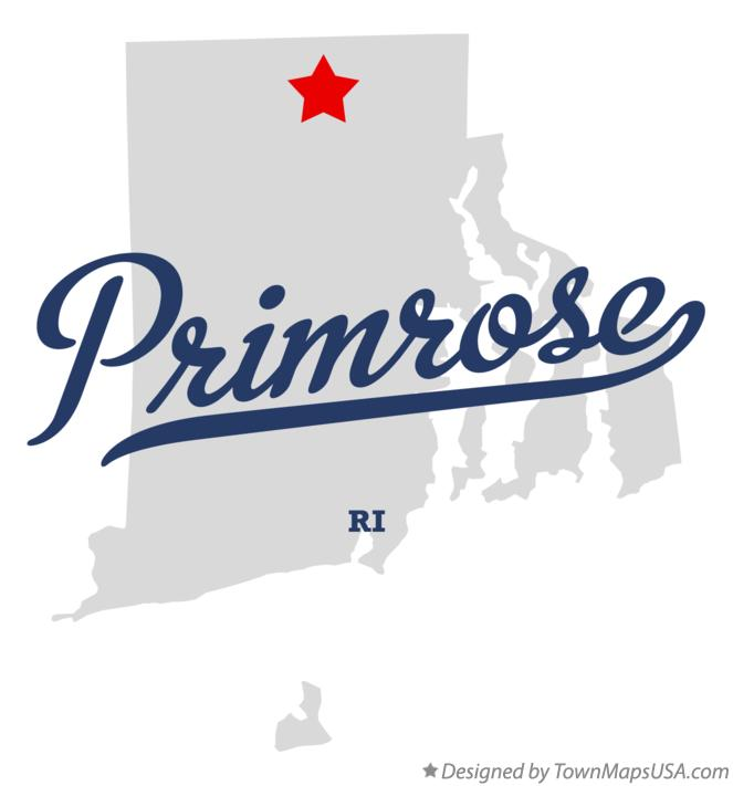 Map of Primrose Rhode Island RI