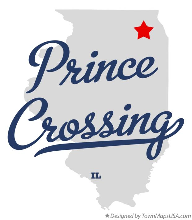 Map of Prince Crossing Illinois IL