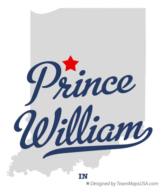 Map of Prince William Indiana IN