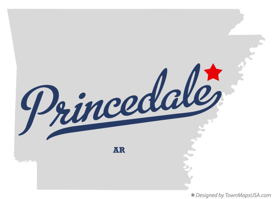 Map of Princedale Arkansas AR