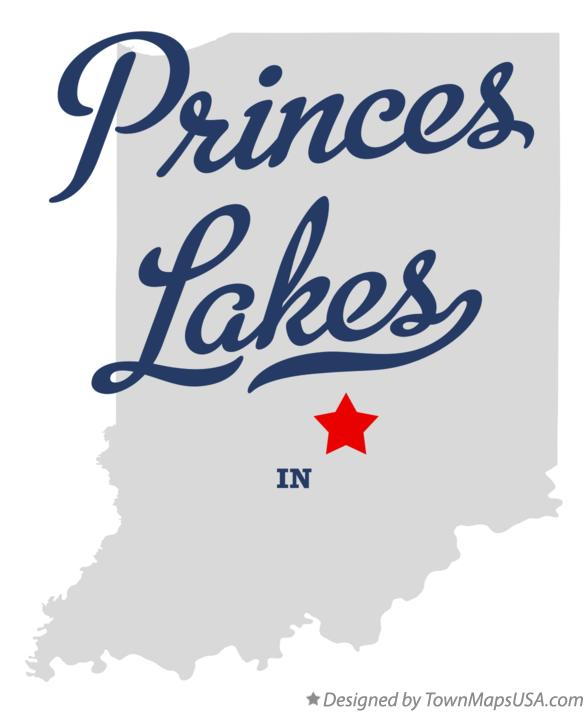 Map of Princes Lakes Indiana IN