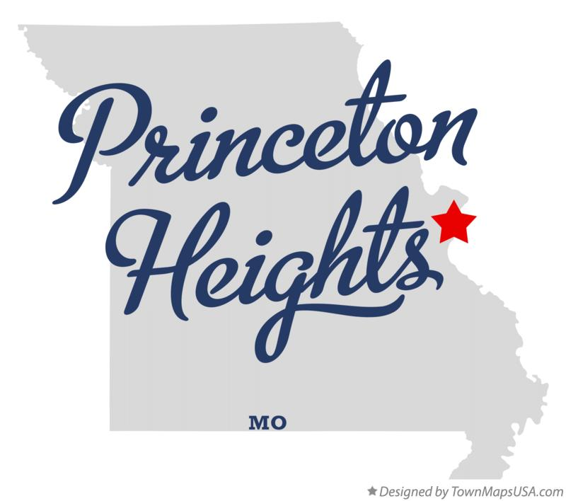 Map of Princeton Heights Missouri MO