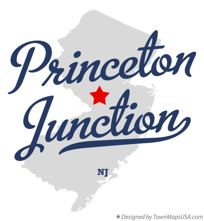 Map of Princeton Junction New Jersey NJ