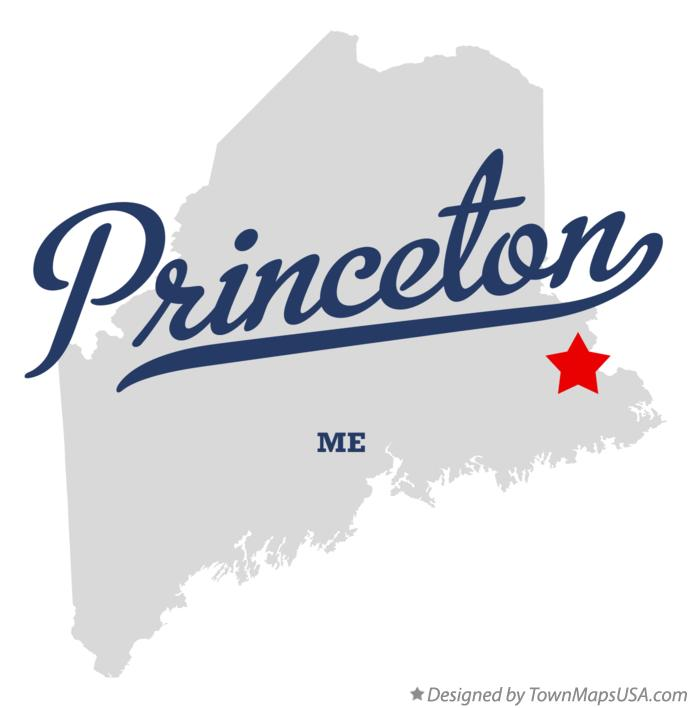 Map of Princeton Maine ME