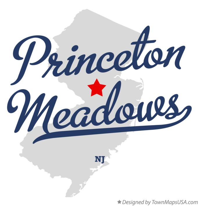 Map of Princeton Meadows New Jersey NJ