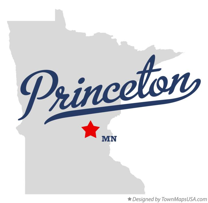 Map of Princeton Minnesota MN