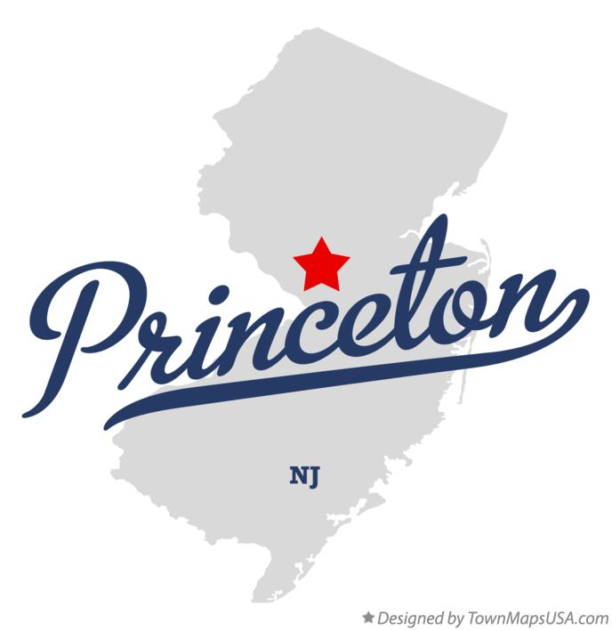 Map of Princeton New Jersey NJ