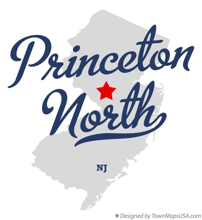 Map of Princeton North New Jersey NJ