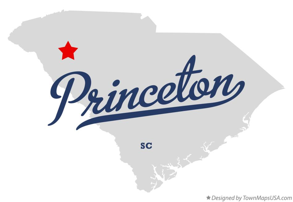 Map of Princeton South Carolina SC