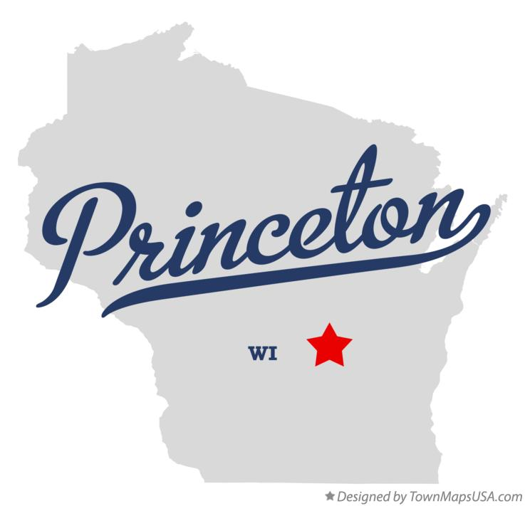 Map of Princeton Wisconsin WI