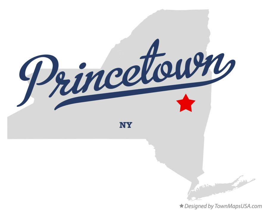 Map of Princetown New York NY