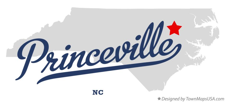 Map of Princeville North Carolina NC