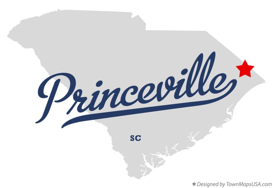 Map of Princeville South Carolina SC