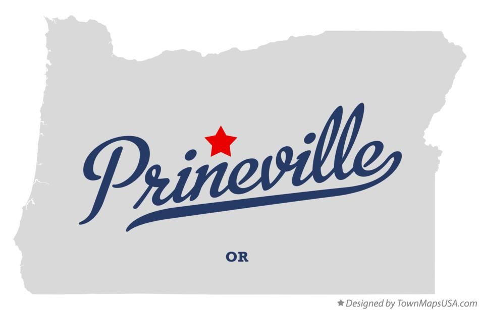 Map of Prineville Oregon OR