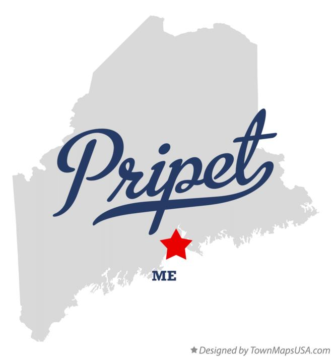Map of Pripet Maine ME