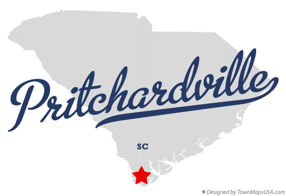 Map of Pritchardville South Carolina SC