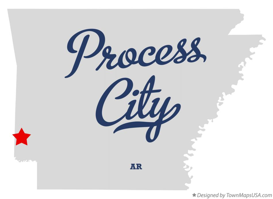Map of Process City Arkansas AR