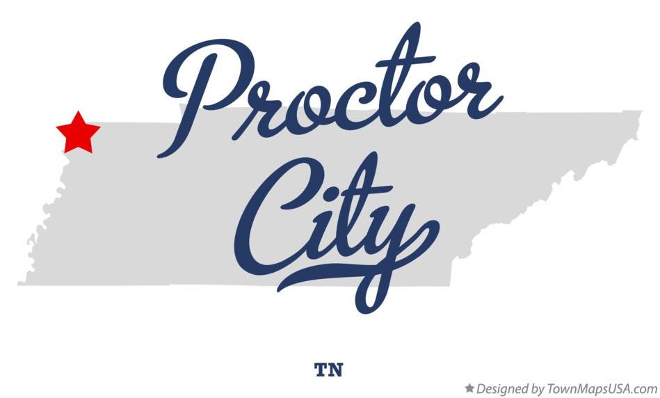 Map of Proctor City Tennessee TN