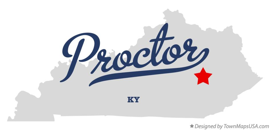 Map of Proctor Kentucky KY