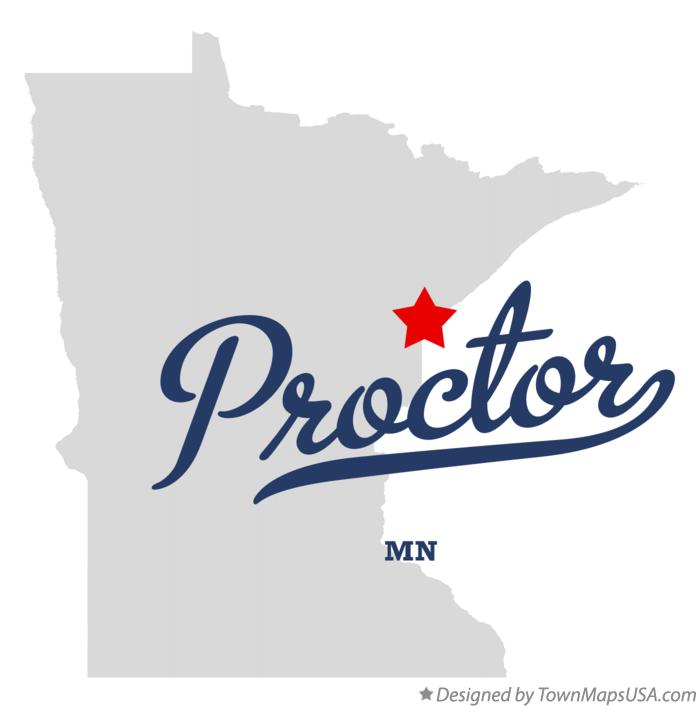 Map of Proctor Minnesota MN
