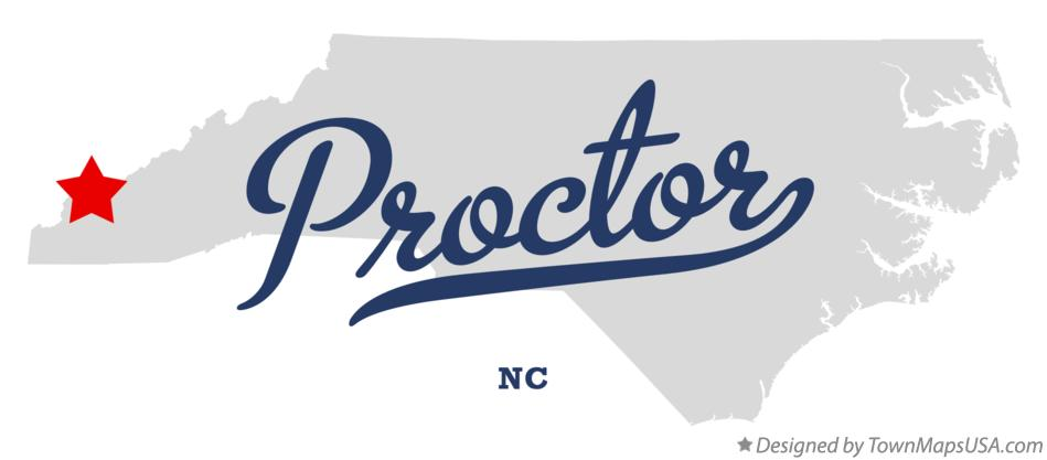 Map of Proctor North Carolina NC