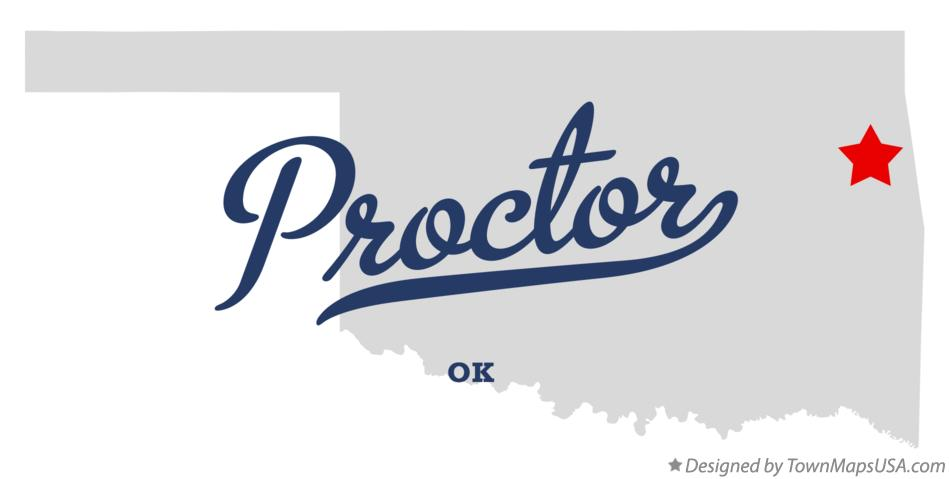 Map of Proctor Oklahoma OK
