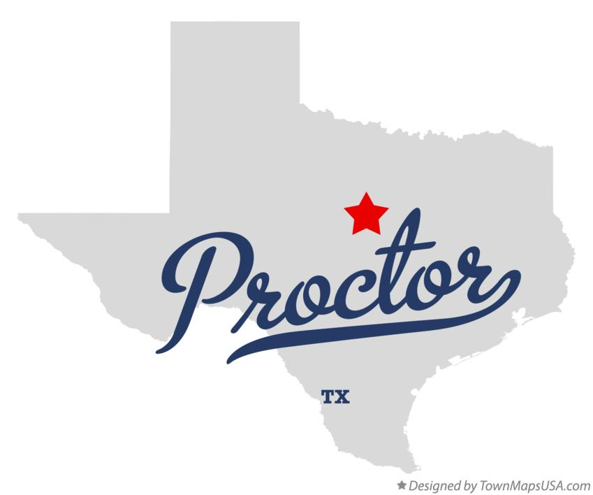 Map of Proctor Texas TX
