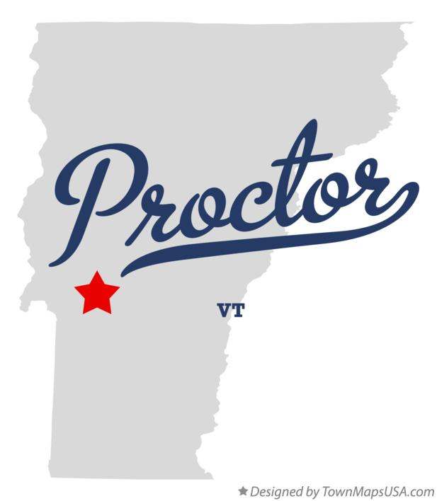 Map of Proctor Vermont VT