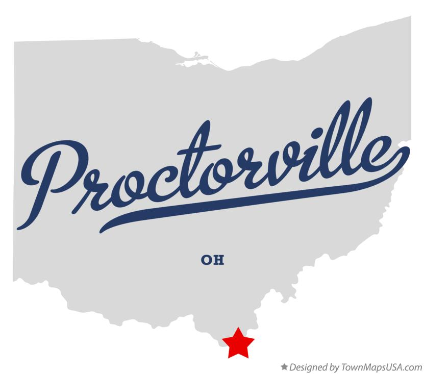 Map of Proctorville Ohio OH