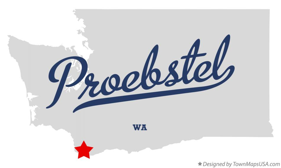 Map of Proebstel Washington WA