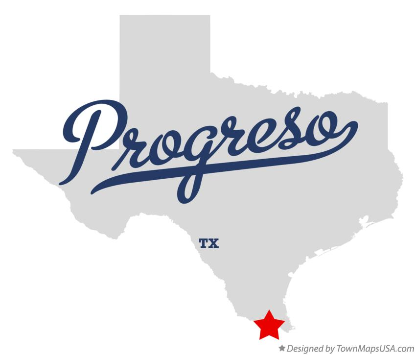 Map of Progreso Texas TX