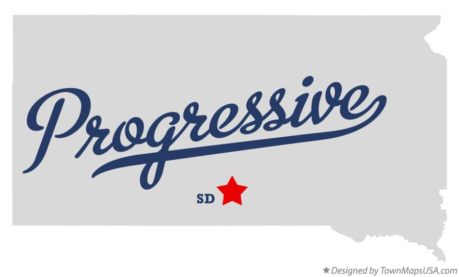 Map of Progressive South Dakota SD