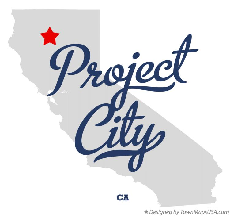 Map of Project City California CA