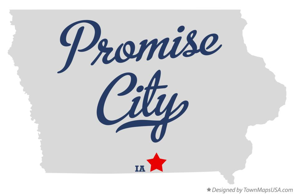 Map of Promise City Iowa IA