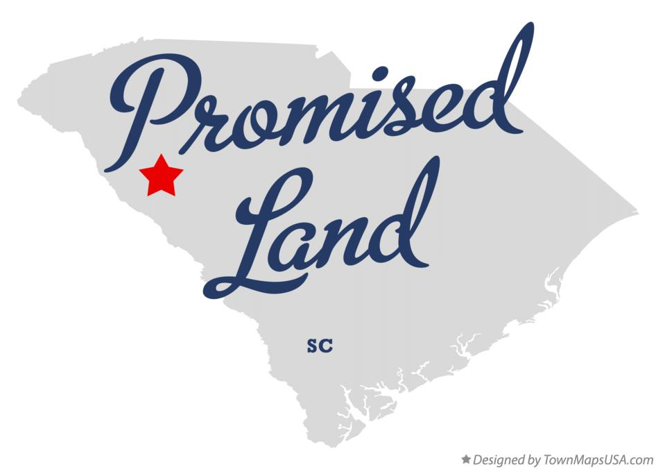 Map of Promised Land South Carolina SC
