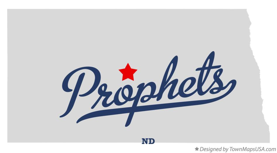 Map of Prophets North Dakota ND