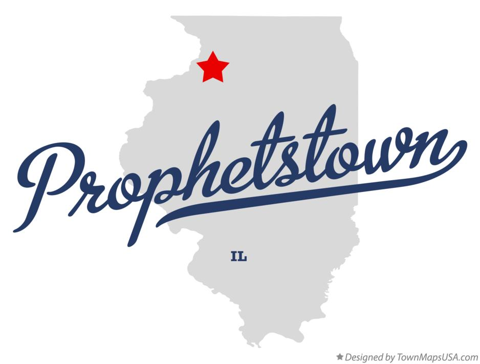 Map of Prophetstown Illinois IL