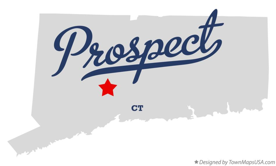 Map of Prospect Connecticut CT