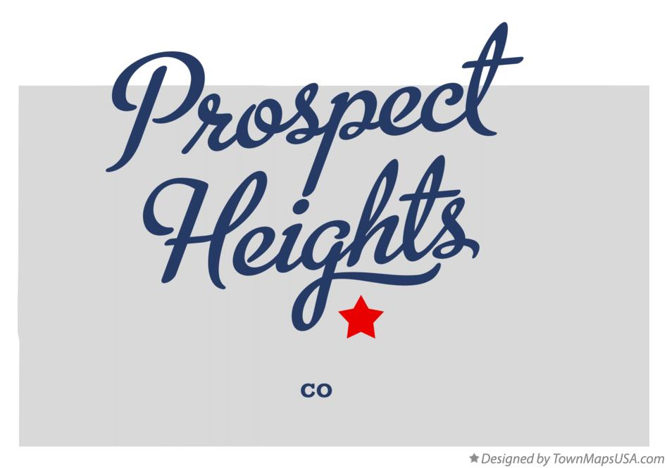 Map of Prospect Heights Colorado CO