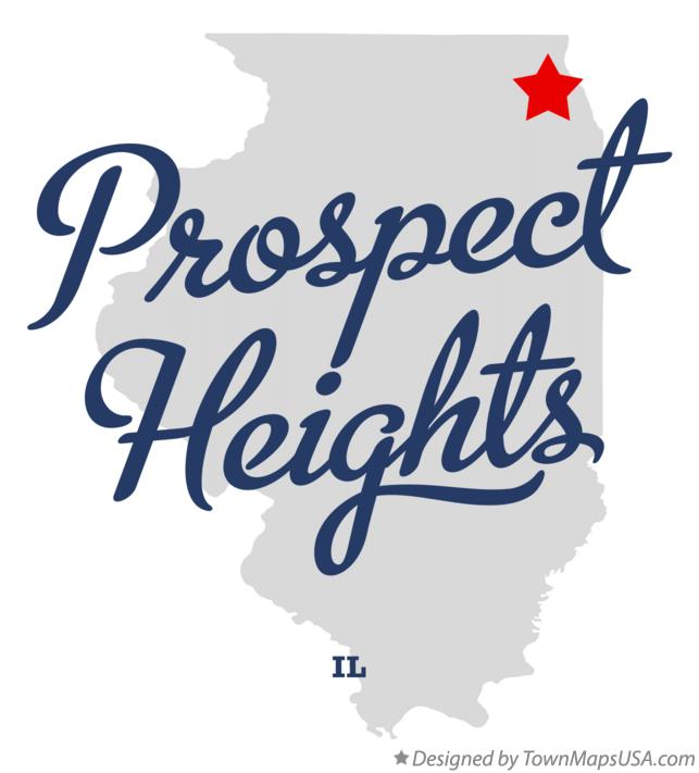 Map of Prospect Heights Illinois IL