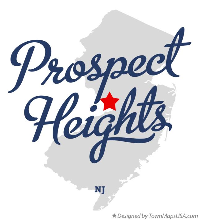 Map of Prospect Heights New Jersey NJ
