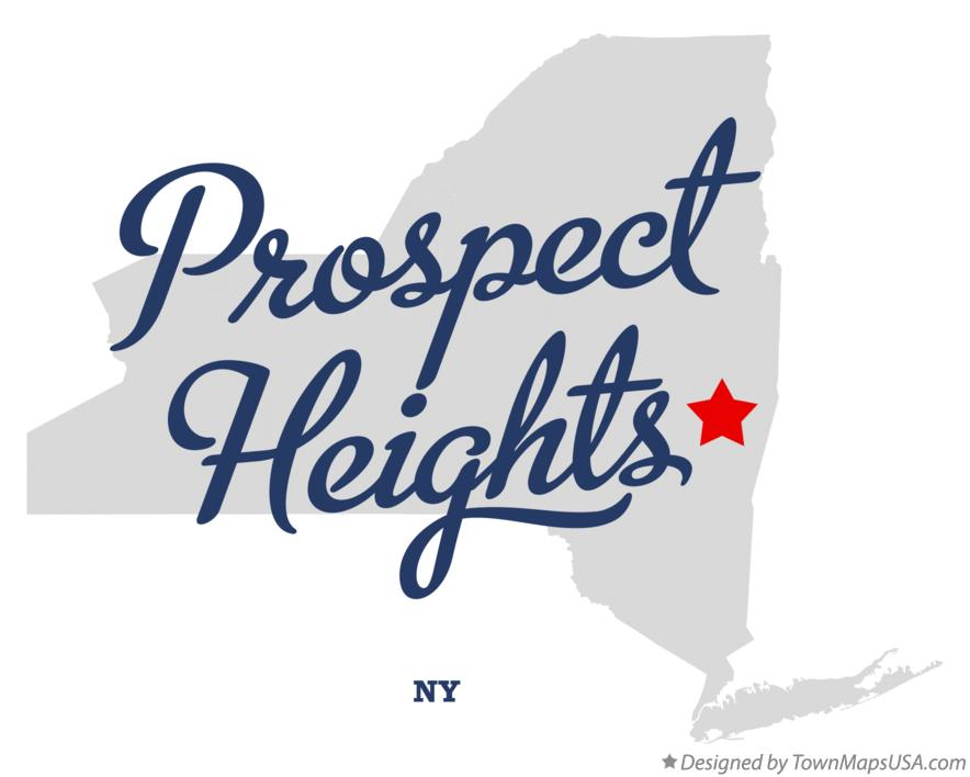 Map of Prospect Heights New York NY