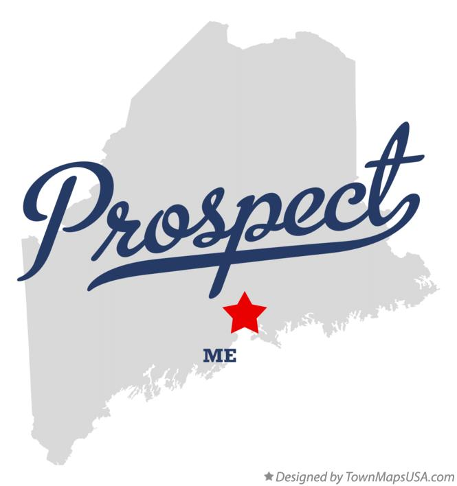 Map of Prospect Maine ME