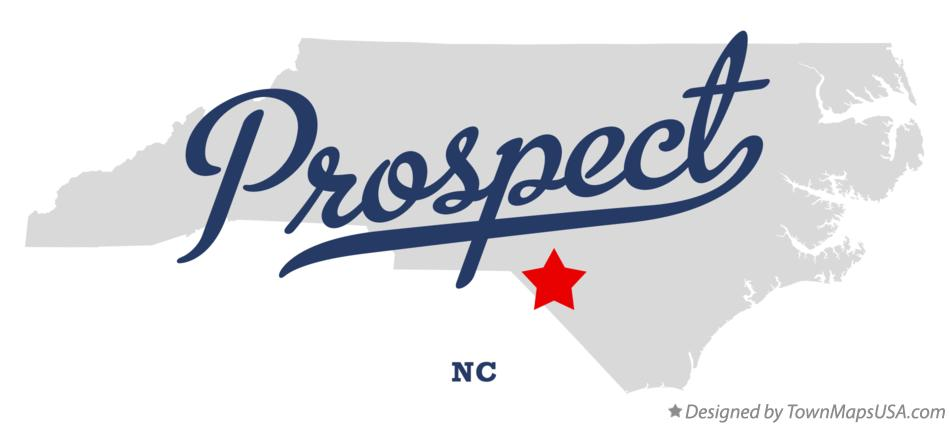 Map of Prospect North Carolina NC